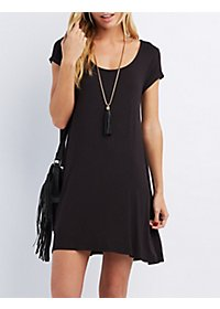 Scoop Neck Trapeze Dress