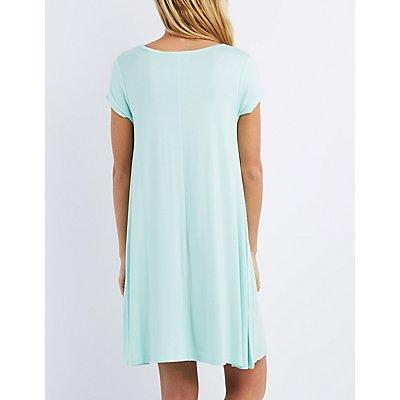 Scoop Neck Trapeze Dress