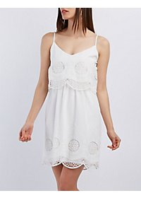 Scalloped Crochet Tiered Dress