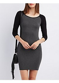 Raglan Sleeve Bodycon Dress