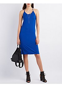 T-Back Midi Shift Dress