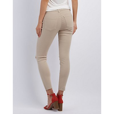 Refuge Skin Tight Legging Slit Knee Jeans