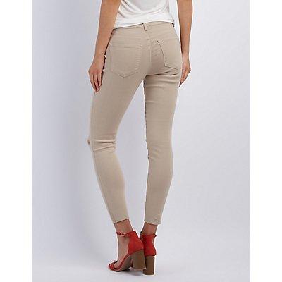 """Refuge """"Skin Tight Legging"""" Slit Knee Jeans"""