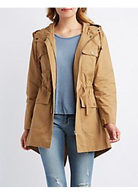 Hooded Flap Pocket Anorak