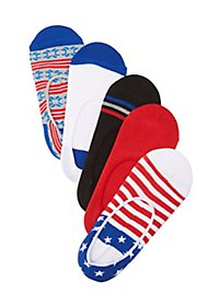 Printed No-Show Liner Socks - 5 Pack