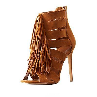 Fringed & Caged Dress Sandals