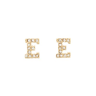 """E"" Initial Necklace & Earrings Set"