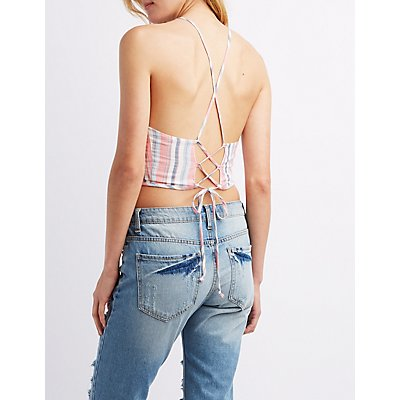 Tie-Back Halter Crop Top