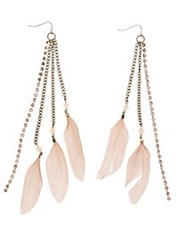Feather Fringe Earrings