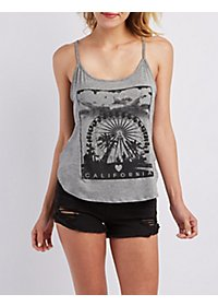 Strappy Graphic Tank Top