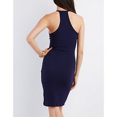 Envelope Hem Bodycon Dress