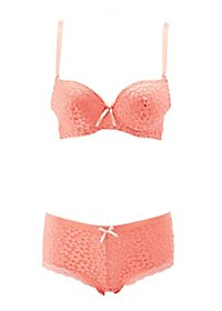 Lace Push-Up Bra & Boyshort Panty Set