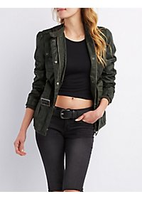 Belted Zip-Up Utility Jacket