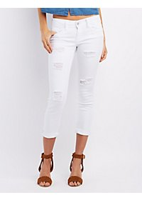 Dollhouse Roll-Up Skinny Capri Jeans
