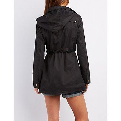 Hooded Zip-Up Anorak Jacket