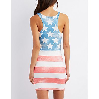 Graphic Racerback Shift Dress