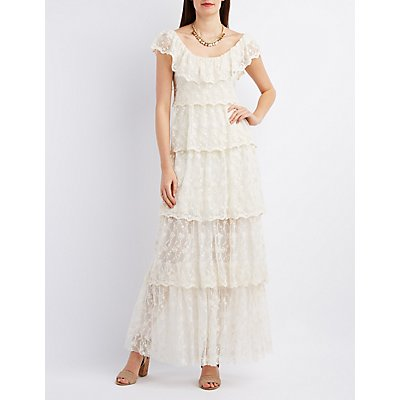 Arc & Co. Tiered Off-the-Shoulder Maxi Dress