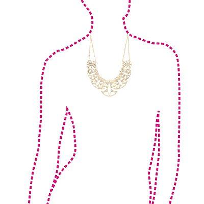 Cut-Out Metal Bib Necklace