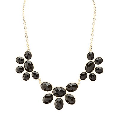Faceted Stone Statement Necklace