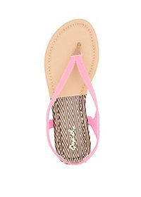 Qupid Slingback Thong Sandals