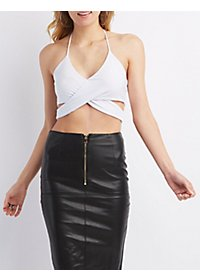 Wrapped Halter Crop Top