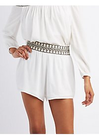 Textured Flowy Shorts