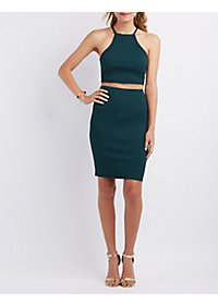Ribbed Crop Top & Pencil Skirt Hook-Up