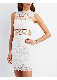 Crochet Bandeau Bodycon Dress