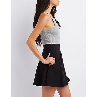 Flat Waist Skater Skirt