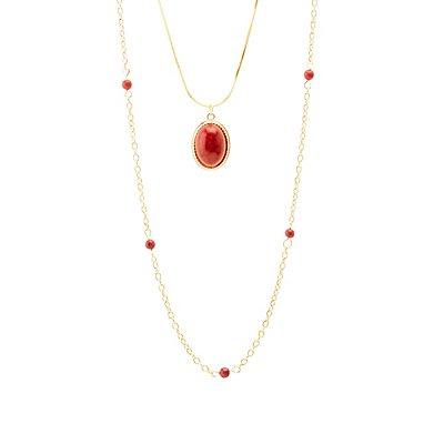 Gemstone & Beads Layered Necklace