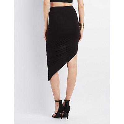 Draped Asymmetrical Skirt