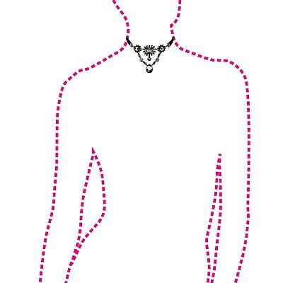 Crystal & Velvet Choker Necklace