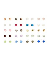 Birthstone Stud Earrings - 20 Pack