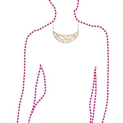 Half Moon Bib Necklace