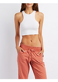 Ribbed Racerback Crop Top
