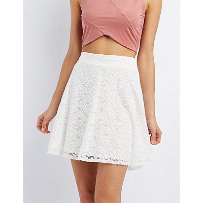 Floral Lace Skater Skirt