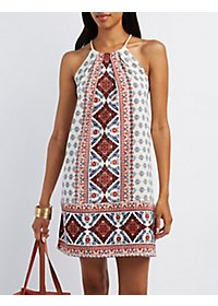 Bandana Print Shift Dress