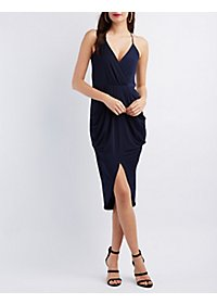 Tulip Hem V-Neck Dress