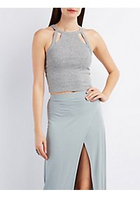 Cut-Out Bib Neck Tank Top