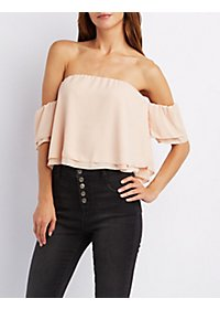 Off-the-Shoulder Layered Top