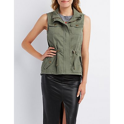 Button-Flap Pocket Utility Vest