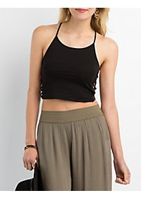Caged Sides Cropped Tank
