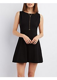 Open-Back Sleeveless Skater Dress