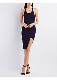 Asymmetrical T-Back Bodycon Dress