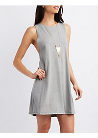 Sleeveless Racerback Shift Dress