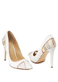GX By Gwen Stefani Woven Pointed Toe Pumps