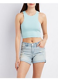 Racer Front Cropped Tank