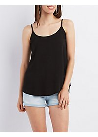 Strappy Caged-Back Tank Top