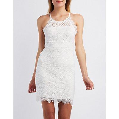 Sans Souci Scalloped Lace Bodycon Dress