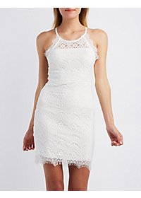 Sans Souci Scalloped Lace Bodycon Dress